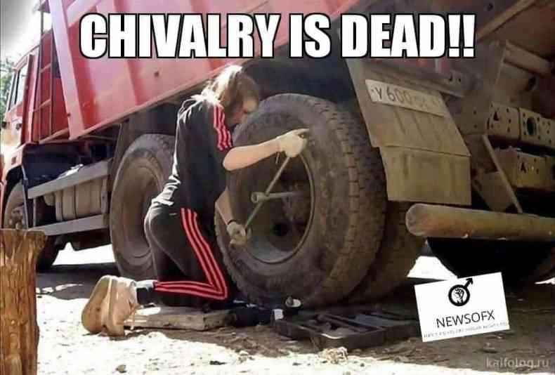 chivalry is dead meme