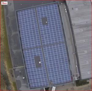 Zonne-energie installatie bij USV Hercules