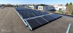 Overzicht van een zonne-energie installatie