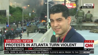 CNN Center Attacked by Rioters 29th May 2020 - CNN Center Attacked by Rioters