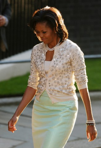 President Obama And The First Lady Arrive At Downing Street