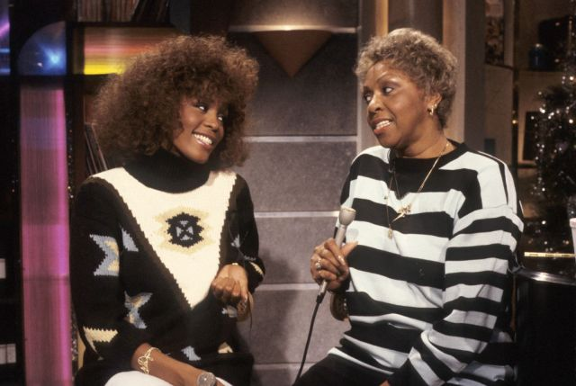 Whitney Houston & Mother At MTV