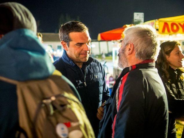 Ο Αλέξης Τσίπρας επισκέφθηκε το Φεστιβάλ Σπούτνικ χθες βράδύ, κατά την τρίτη ημέρα, λίγοι πριν την ολοκλήρωσή του.