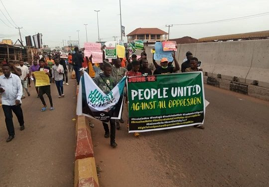 #June12thProtest Takes Over Akure