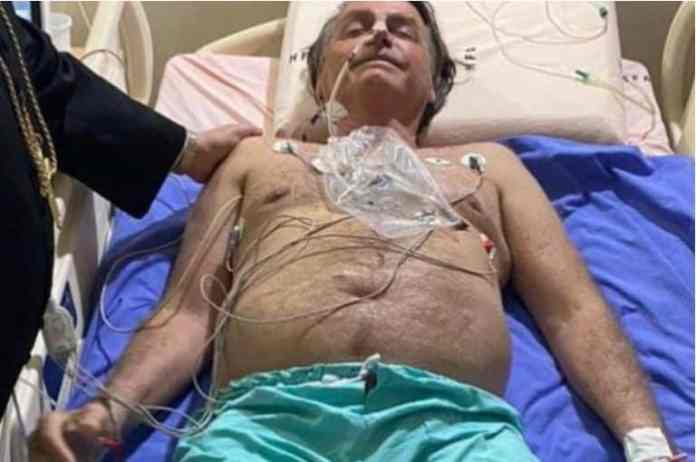 Brazil's President Jair Bolsonaro is being treated for a blocked intestine. It is not clear whether he will need surgery. He posted this picture from the armed forces hospital in Brasilia before he was transferred [INSTAGRAM @jairmessiasbolsonaro via Reuters]