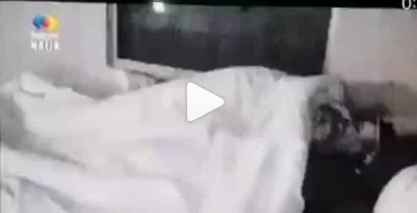 BBNaija Sammie And Angel Having Aggressive Cuddle In Bed