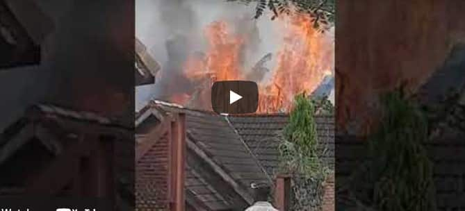 Video Of IPOB Members Setting Joe Igbokwe House On Fire