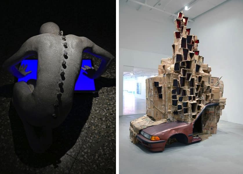 Prof. Andrzej Bednarczyk - Installation aus dem Zyklus Narziss, Rob Voerman - A Permeable Body of Solitude