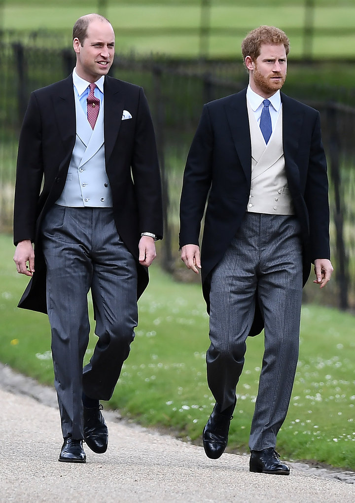 Prince William and Prince Harry pictured at Pippa Middleton's wedding on May 20, 2017.