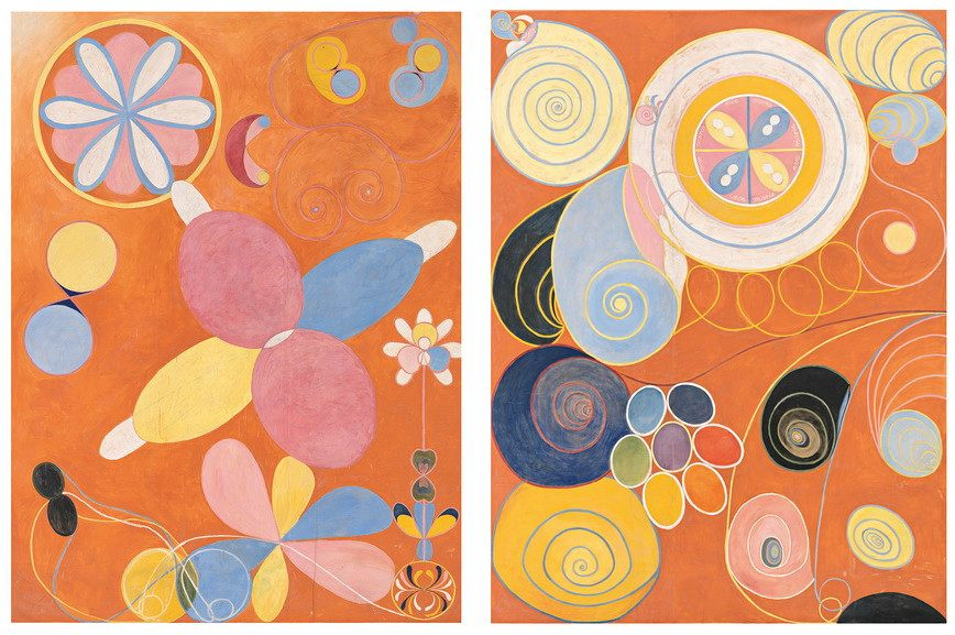 Left Hilma af Klint - The Ten Largest, No. 4 Right Hilma af Klint - The Ten Largest, No. 3