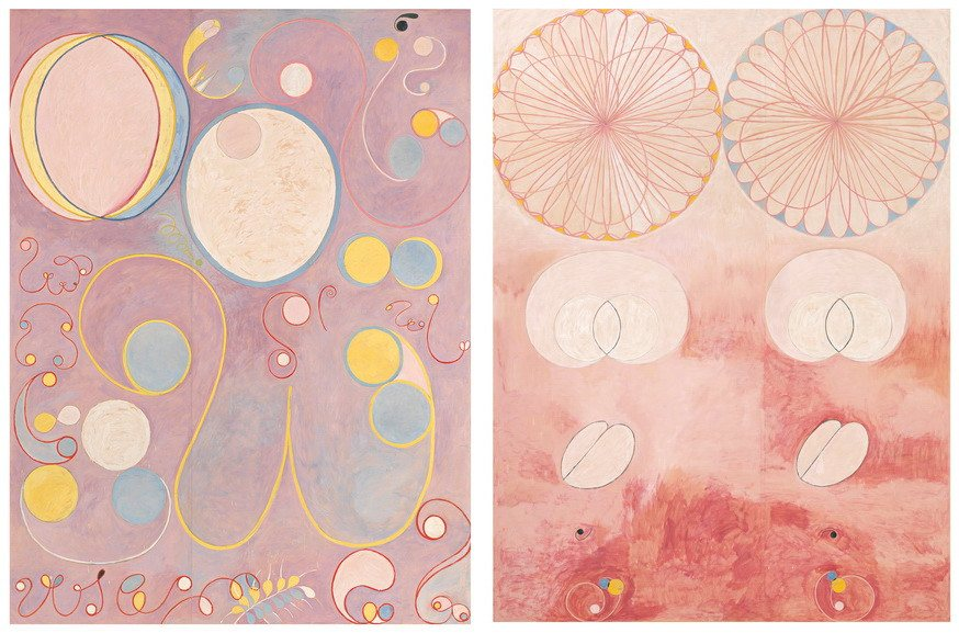 Left Hilma af Klint - The Ten Largest, No. 8 Right Hilma af Klint - The Ten Largest, No. 9
