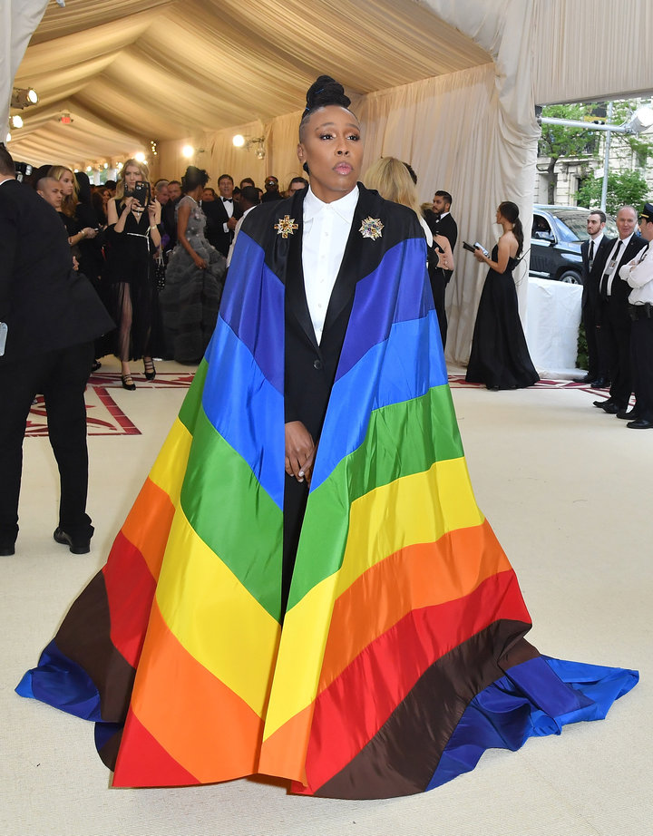 Lena Waithe arrives for the 2018 Met Gala on May 7, 2018.