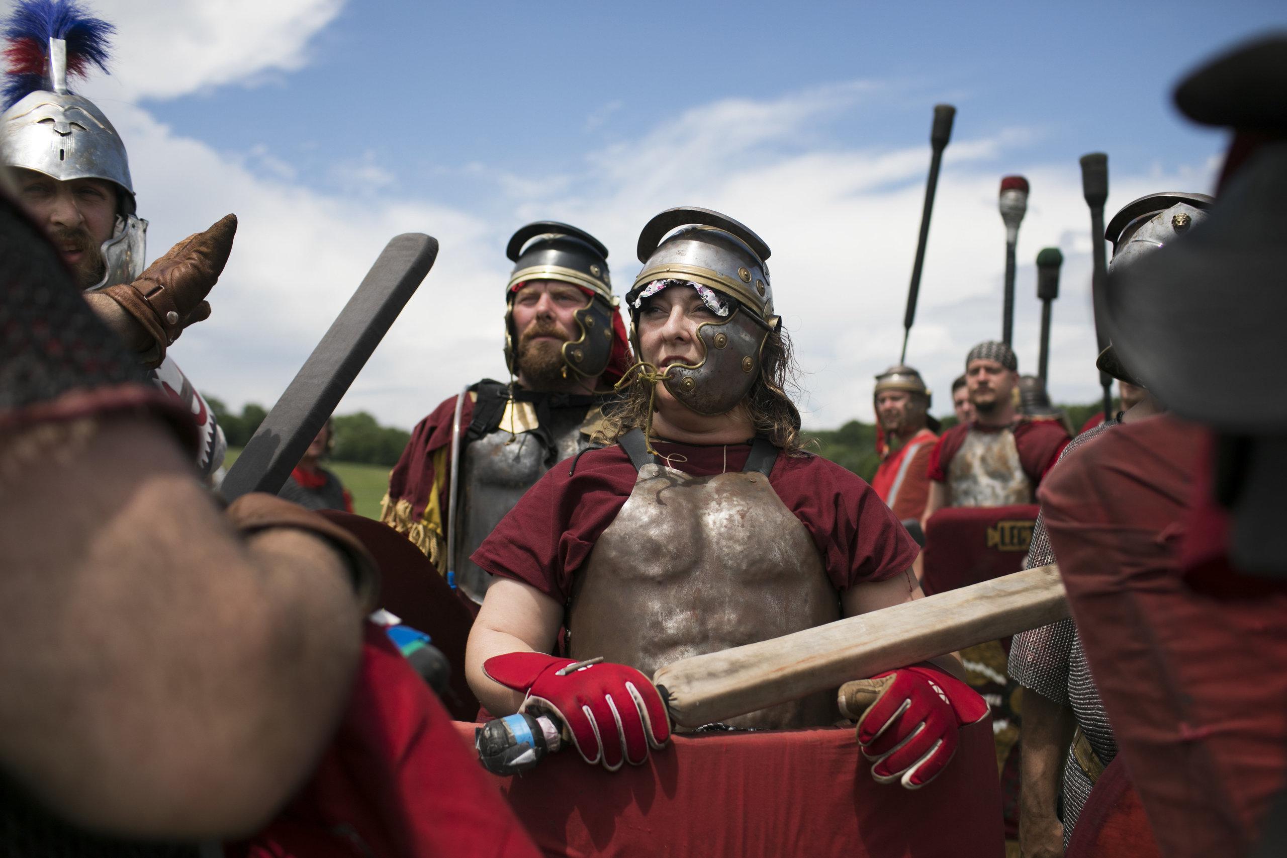 Ragnarok attendees preparing to battle.