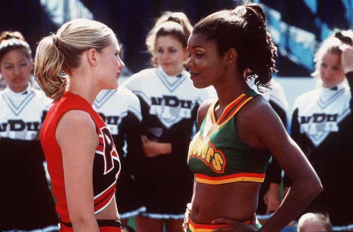 "Kirsten Dunst And Gabrielle Union in ""Bring It On,"" originally called ""Cheer Fever."""