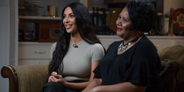 Kim Kardashian West and Alice Johnson.