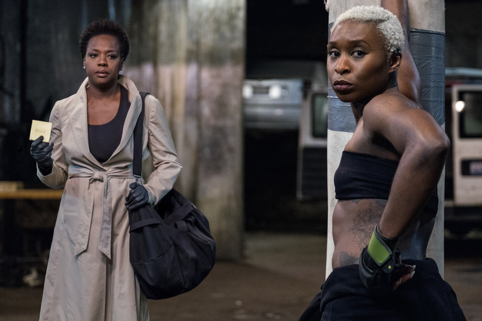 "Viola Davis and Cynthia Erivo in ""Widows."""