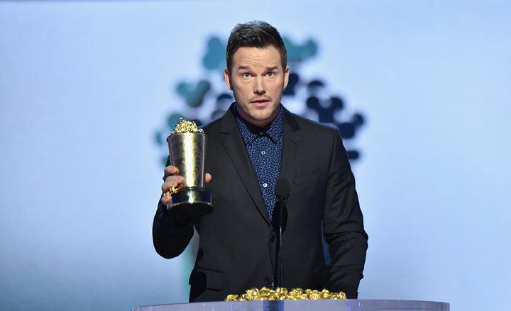 Chris Pratt receives the Generation Award at theMTVMovie & TV Awards.