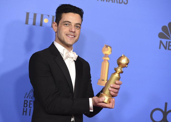 """Rami Malek, winner of best actor in a drama for """"Bohemian Rhapsody."""""""