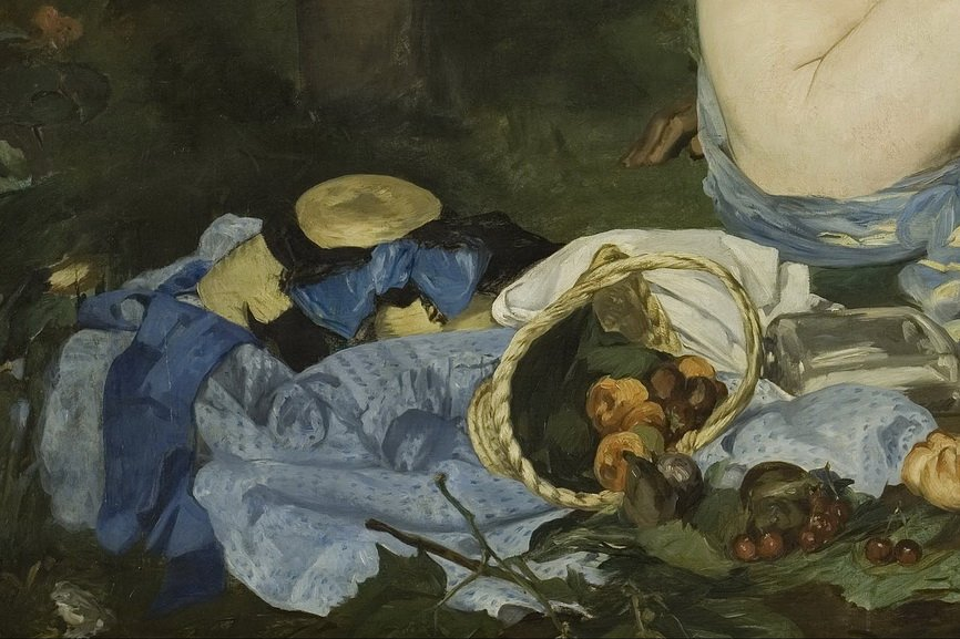 Edouard Manet - Luncheon on the Grass detail