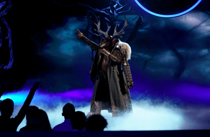 "Deer performs on the premiere of ""The Masked Singer."""