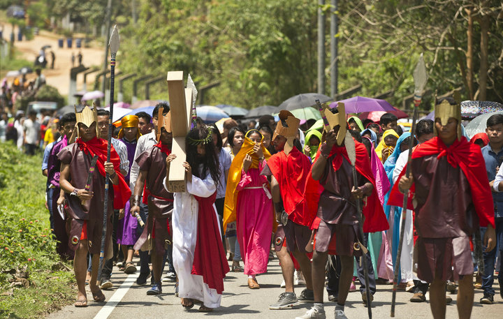 Christians mark Good Friday in Gauhati, India, on April 19, 2019.