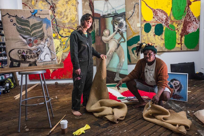 Emalin: Tt X AB - Teresa Farrell and Alvaro Barrington, photographed by Elisa Gomera