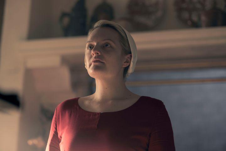 """Elisabeth Moss as June in """"Handmaid's Tale."""""""