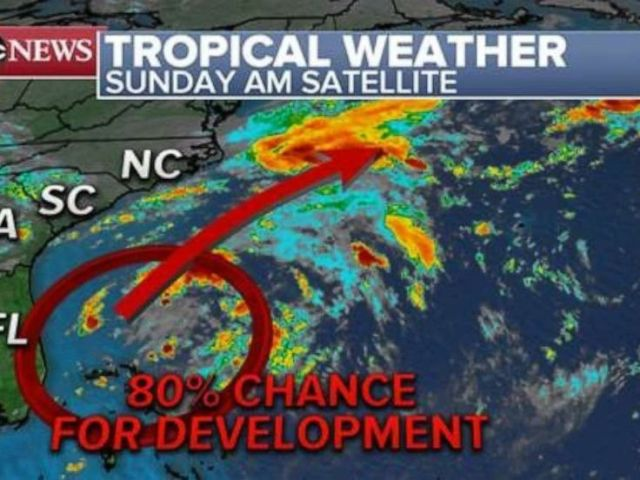 PHOTO: A Tropical Depression could form off of the coast of Florida early this week.