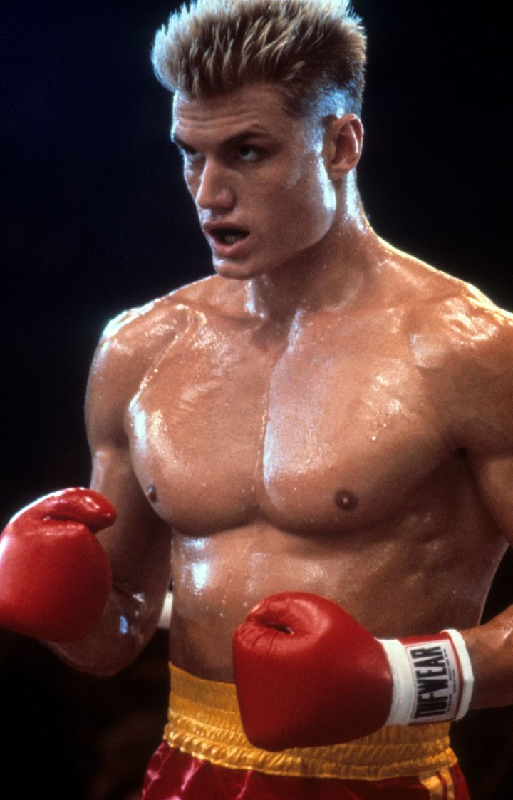 """Lundgren as Ivan Drago in a scene from """"Rocky IV."""""""