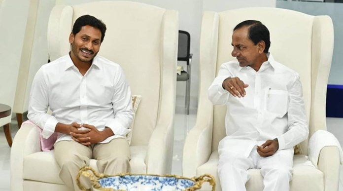 ap cm ys jagan and telangana cm kcr routs are different in national politics