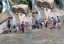 viral video of young girl died at watefall