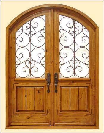 double radius top door