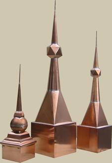 copper finials