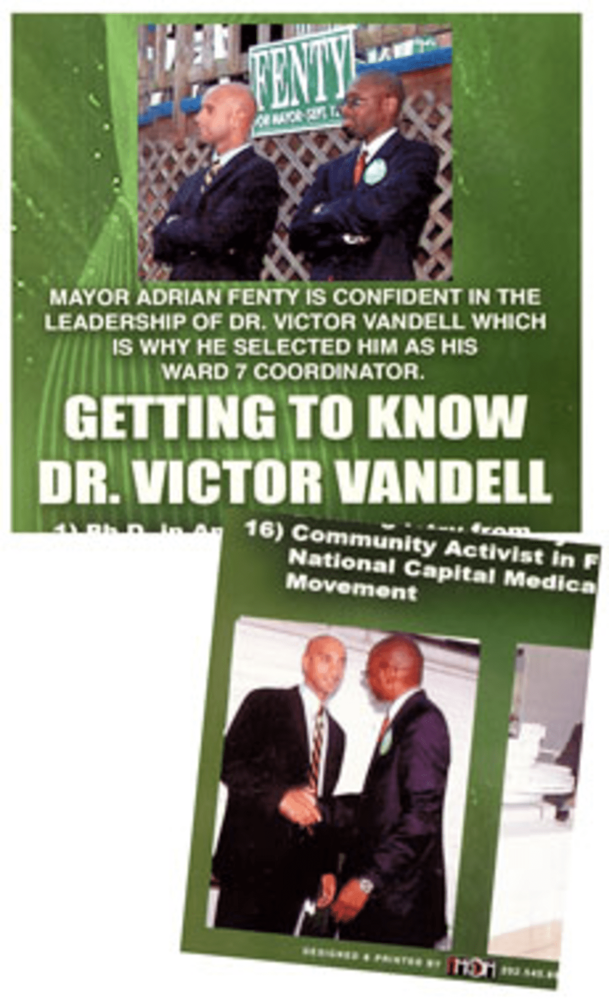 Free Association: Ward 7 candidate Vandell hopes Fenty connection sticks in voters? heads.