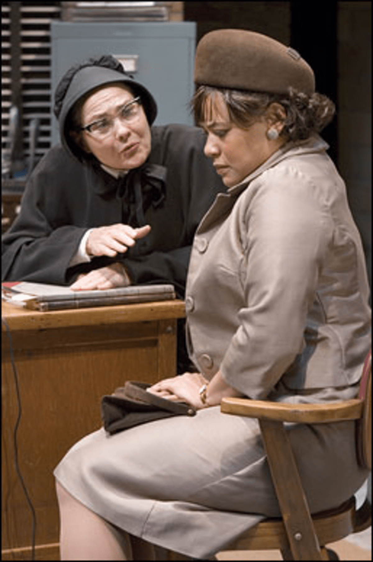 Nun of Your Business: Sister Aloysius counsels a parent prospect.