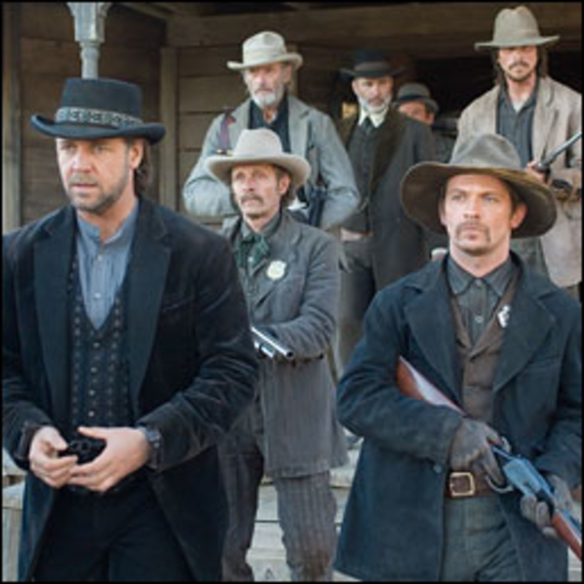 Posse Ineffective: Crowe and Bale play to stereotype in a remake of Yuma.