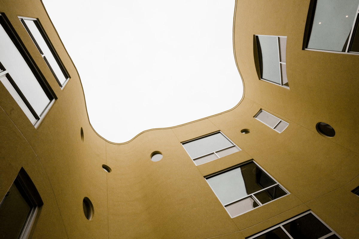 The Erie has a courtyard with Undulating Walls