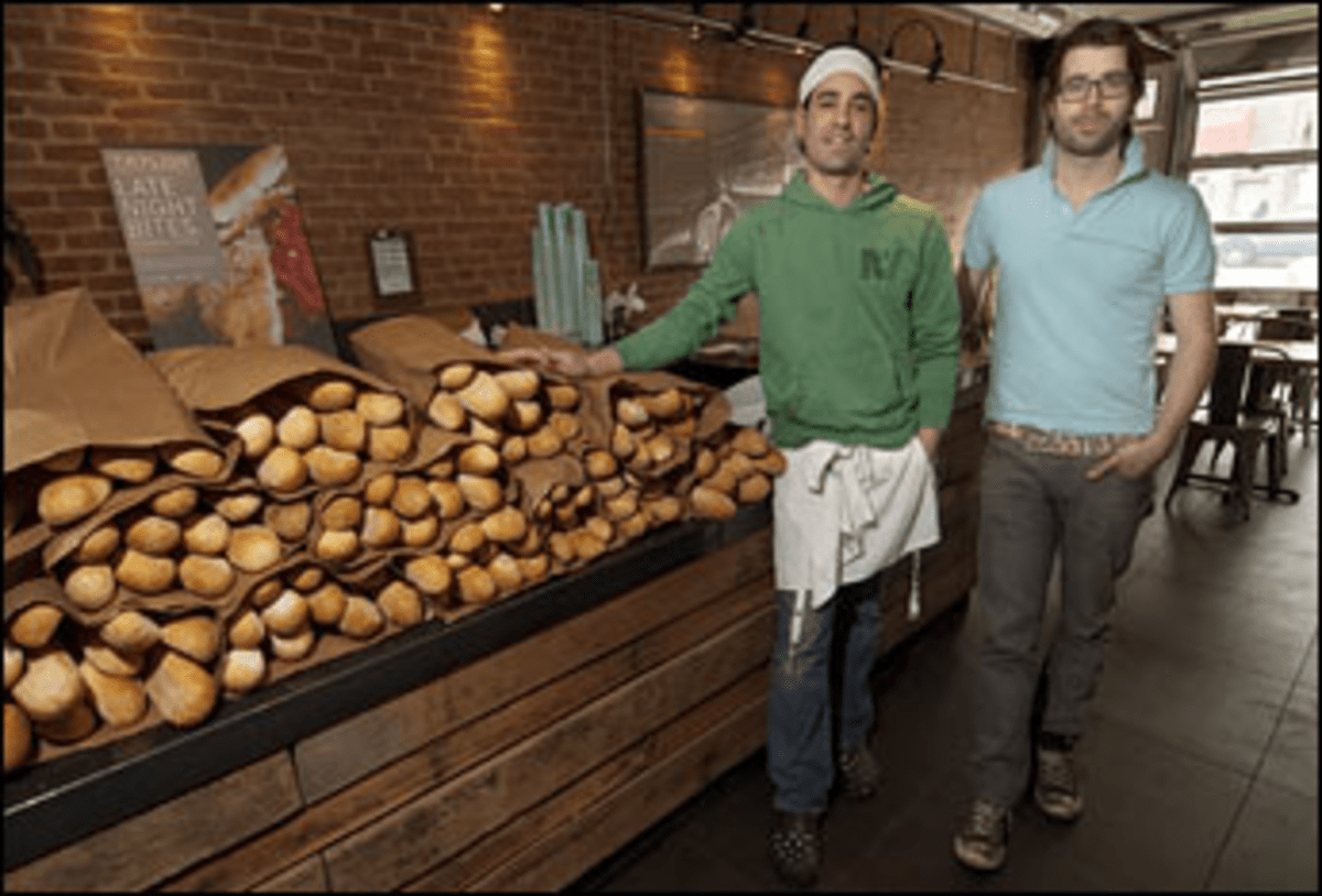 Bread Line: Mazza, left, and Patten source their loaves straight from Sarcone?s.