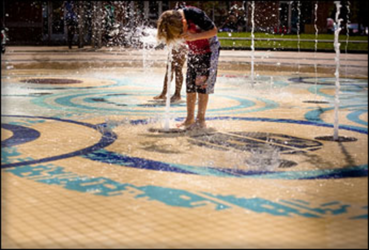 Spray Tell: Re-imagined fountains work better than fancy water parks.