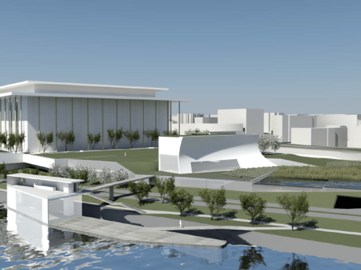 An exterior view of the planned Kennedy Center expansion