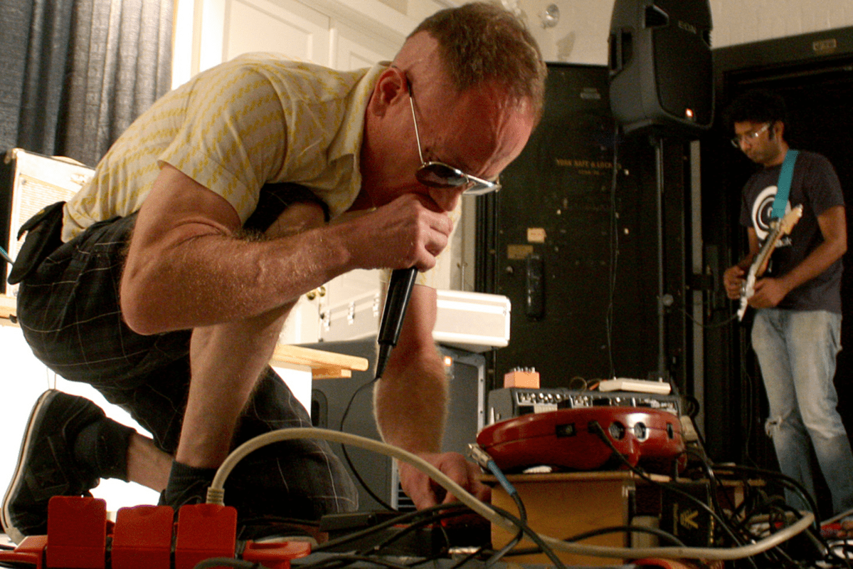 """Gum Yummy performing at """"Broken Mic: Open Mic Night for the Avent Garde 2."""" Event hosted by DC Sonic Circuits, at the Pyramid Atlantic Art Center, Silver Spring MD 18jun11."""