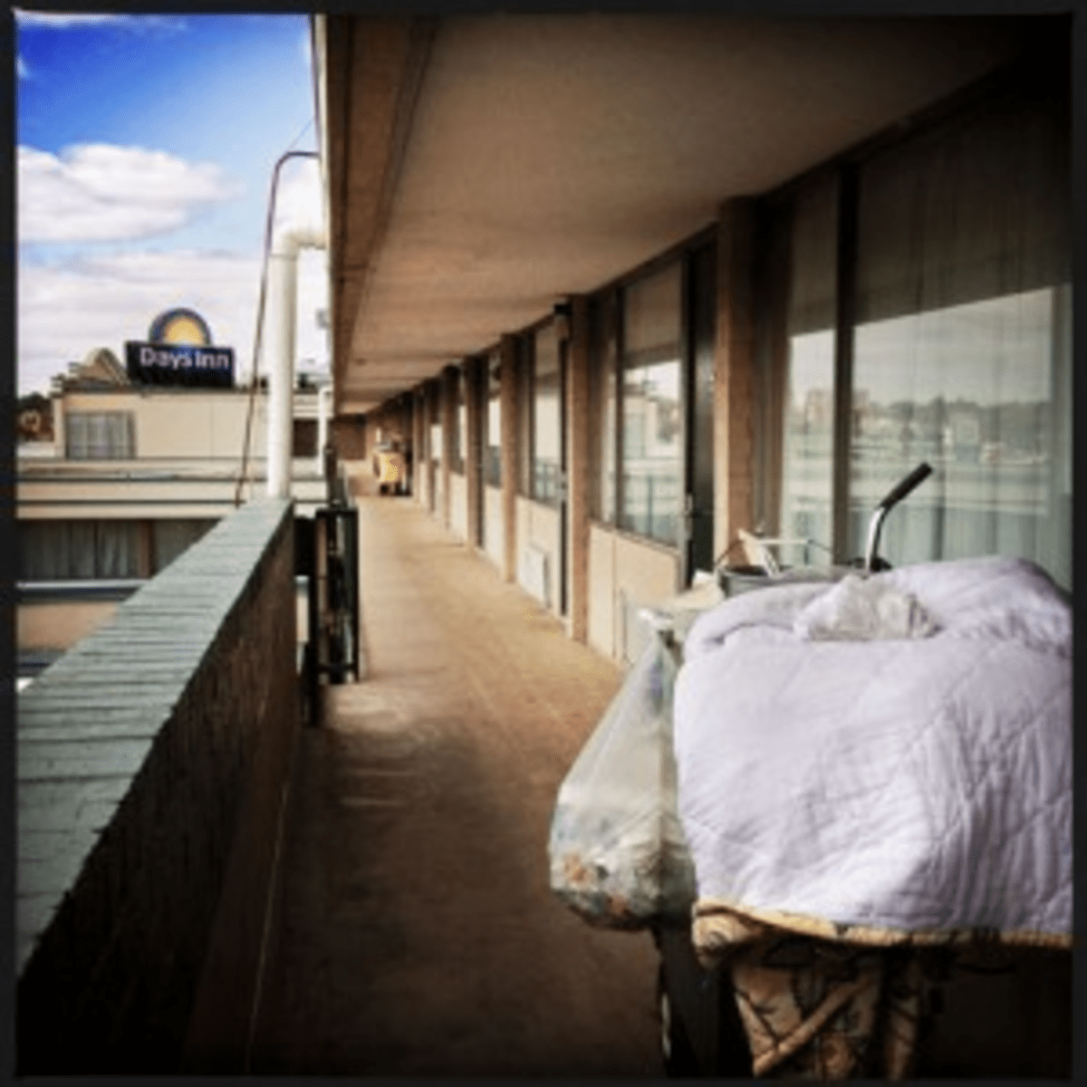 As it did last winter, the city is sheltering homeless families at the Days Inn on New York Avenue NE.