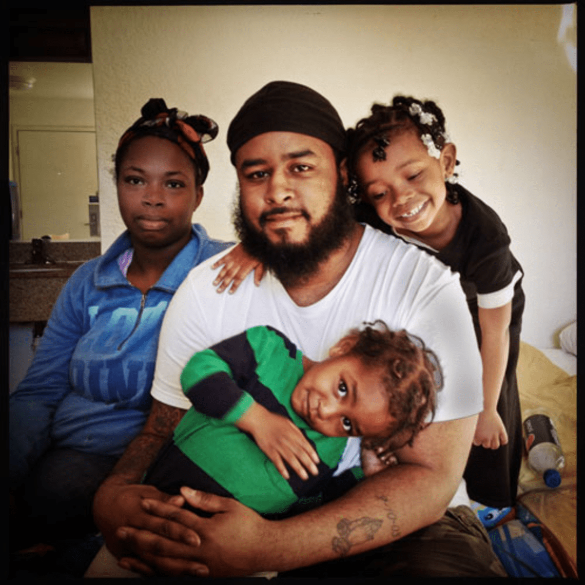 Home Is Where the Heart Is: Donnell Harris is still seeking permanent housing for his family.