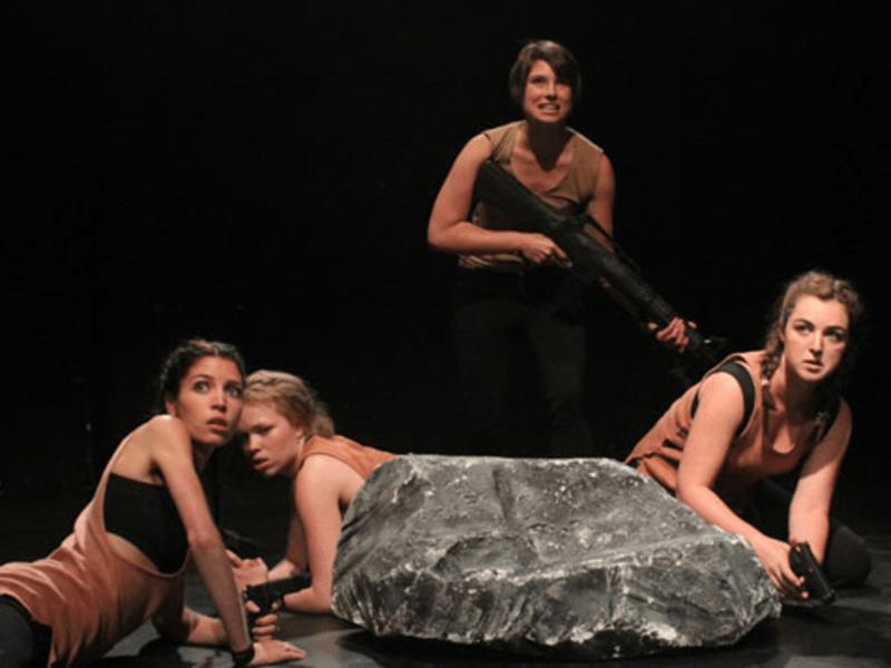 Tori Clodfelter, Angeleaza Anderson, Emily Marsh, and Maddie Kelley. Photo: Derek David.