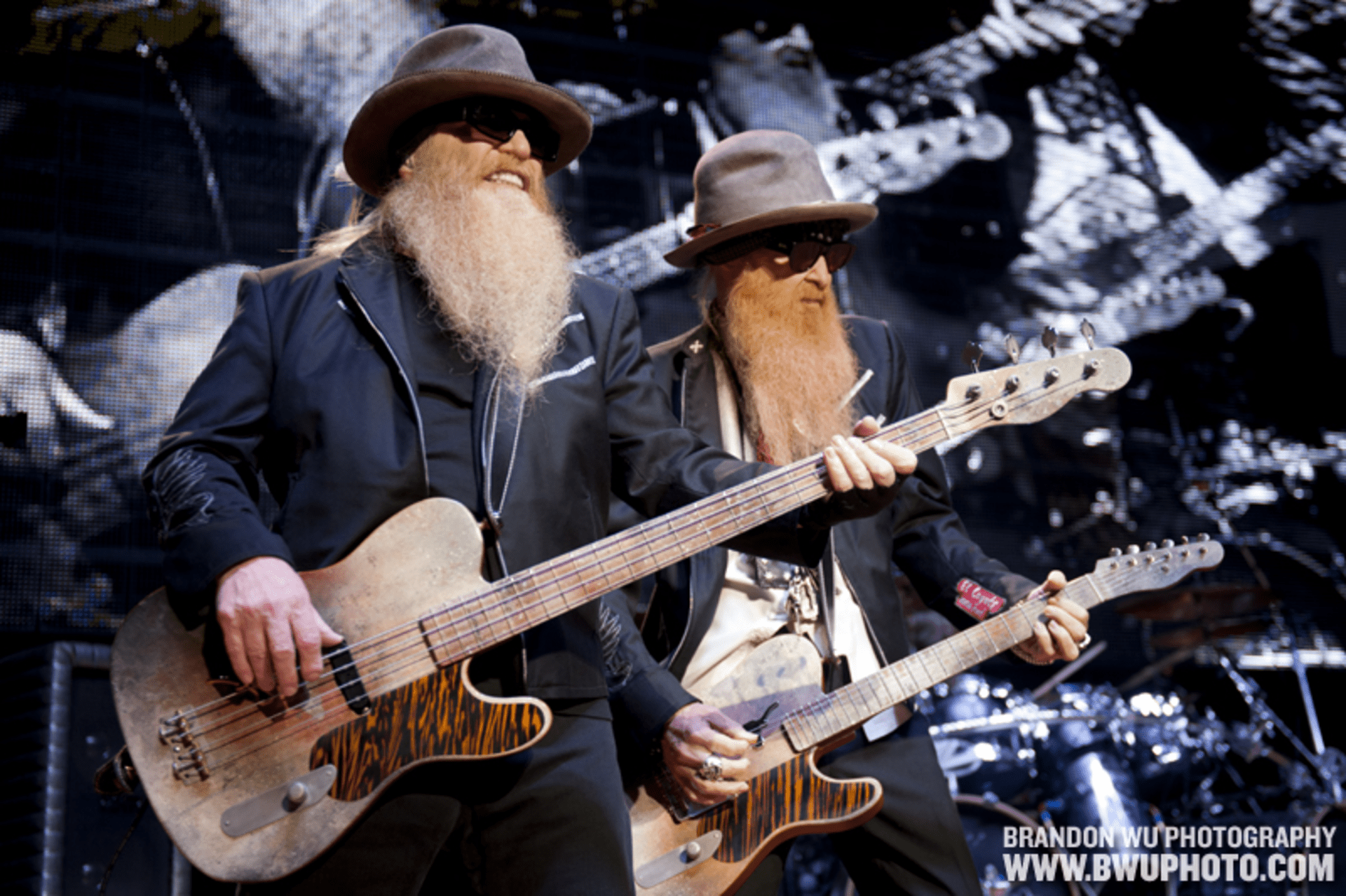 ZZ Top on the Pavilion Stage