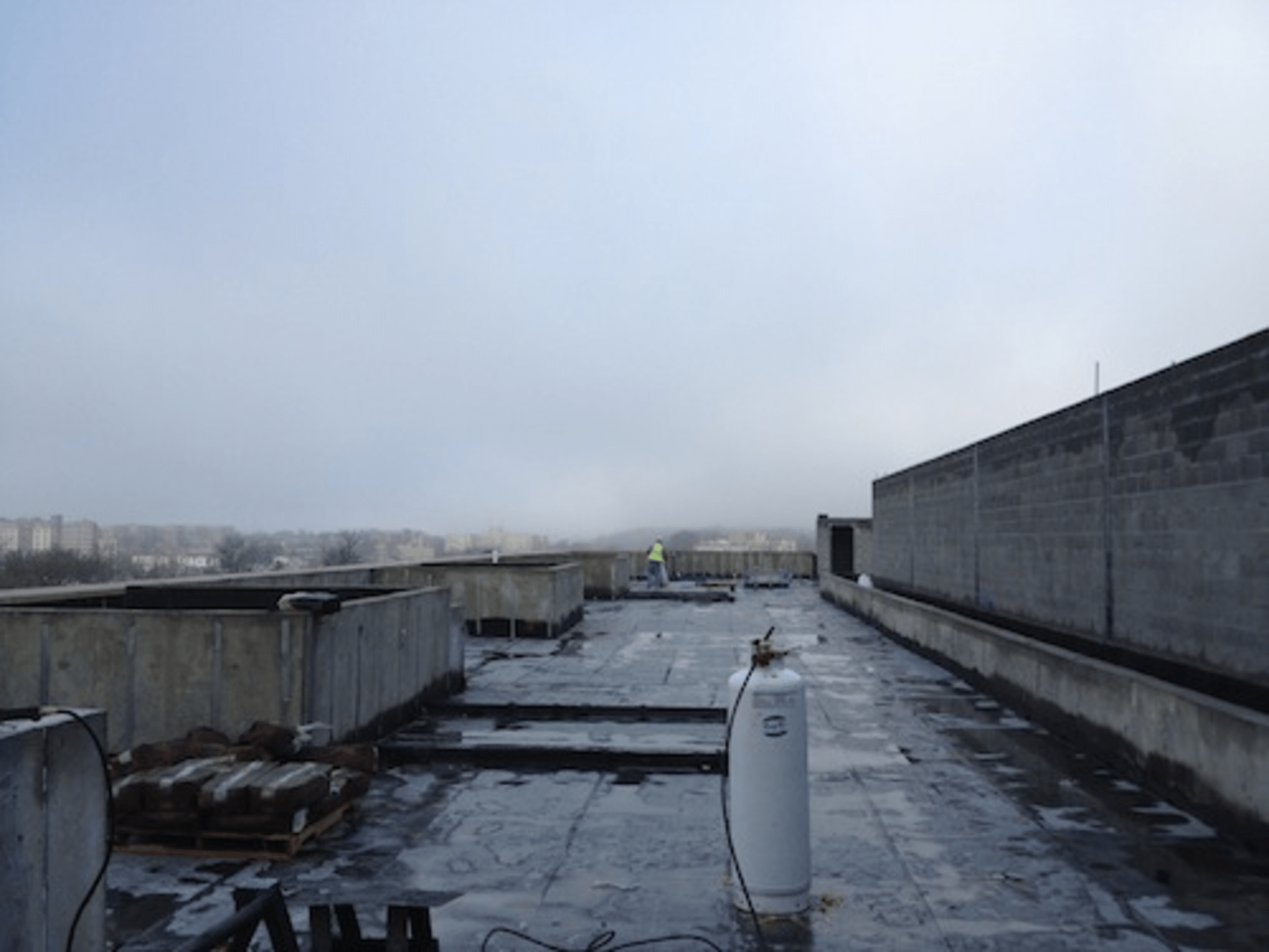 The rooftop, which will feature an outdoor pool table and a fire pit.
