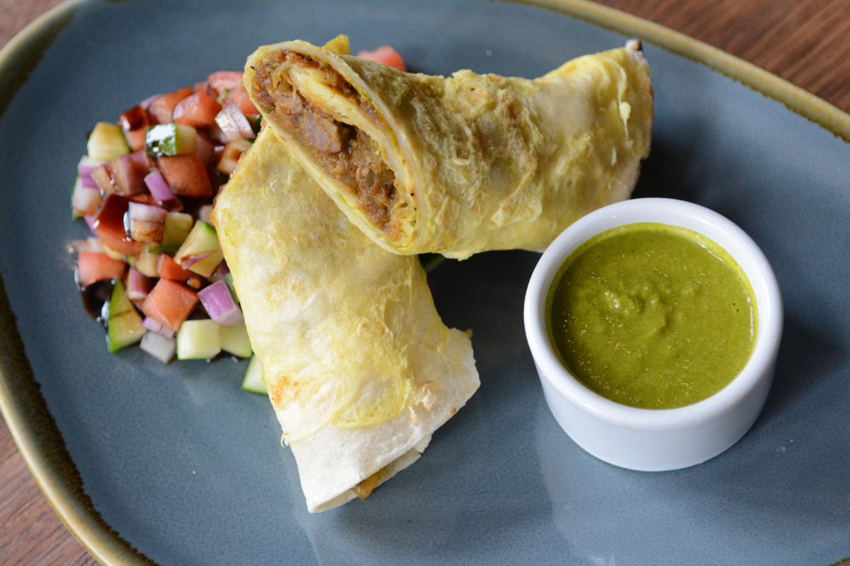 South Indian lamb kathi roll. Photo by Laura Hayes.