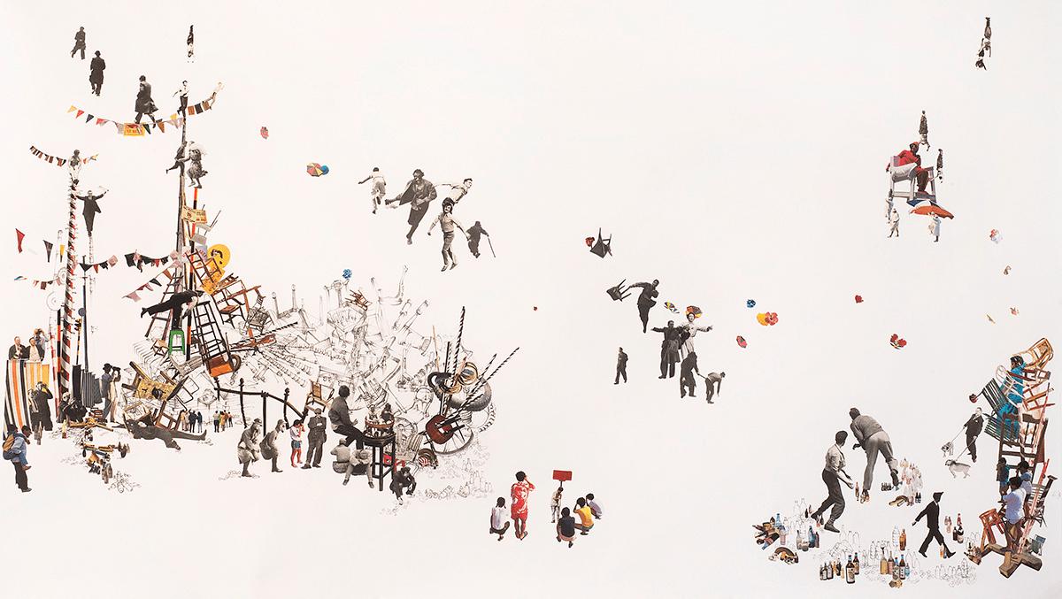 """Men Throwing,"" by Rachel Farbiarz (2016)"