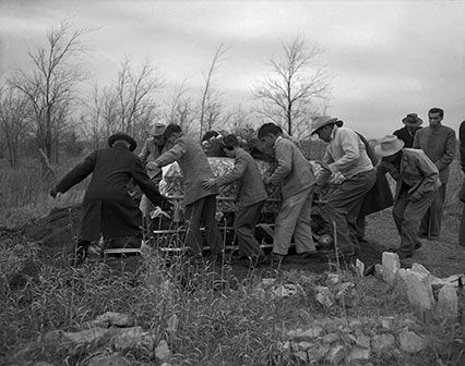 Funeral of Agnes (Mrs. Abel) Big Bow (Kiowa). Hog Creek, Oklahoma, 1947. 45UFN9 © 2014 Estate of Horace Poolaw.