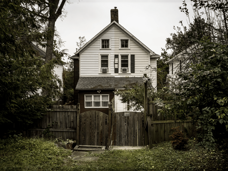 One of the few houses remaining from the original Reno neighborhood